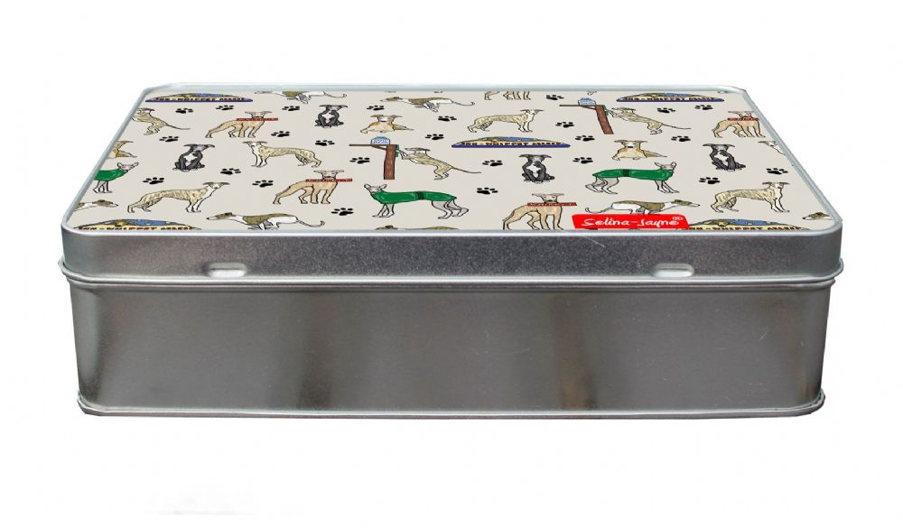 Selina-Jayne Whippet Dogs Limited Edition Designer Treat Tin